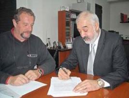Hugo Perosa, director de ICAPA, y José Manuel Achaval, director ejecutivo del CIDENA.