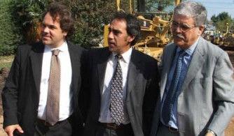 Guzmán, el jueves en Garín, junto a Alberto Pérez y Julio De Vido.