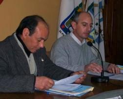 José Rognone y Elio Miranda, secretario y presidente, respectivamente, del HCD.