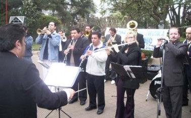 La Banda de Música, en un concierto de protesta, el año pasado.