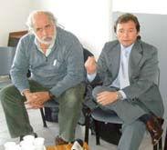 El director de Epidemiología, Alejandro Peralta, y el secretario de Salud, Matías Bertol.