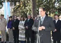 Hugo Cantero fue el único orador.
