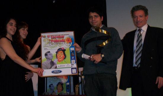 Andrés Olaizola, ganador en documental, junto al actor Daniel Miglioranza.
