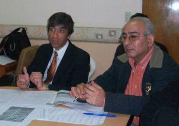 Los concejales Luis Carranza y Daniel Tossio.