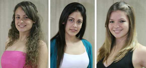Florencia Tomé, Noelia Frías (Garín) y Julieta Monzón (Matheu).