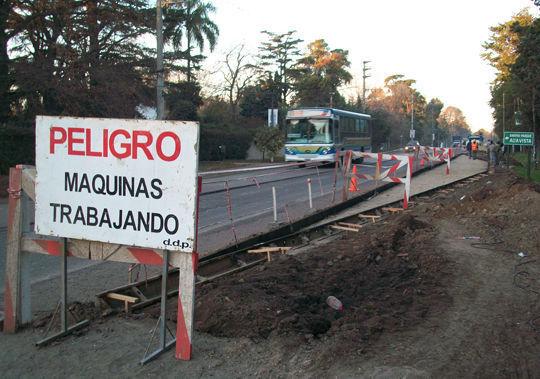 Las obras en la ruta 26 comenzaron en junio.