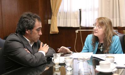 Sandro Guzmán y Alicia Kirchner.