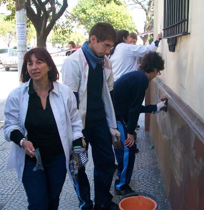 María Elisa Díaz, la docente mentora de la limpieza.