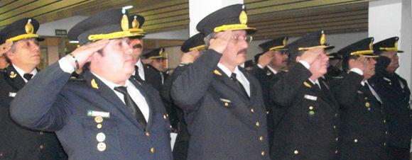 Al acto asistieron los jefes de todas las dependencias policiales del distrito.
