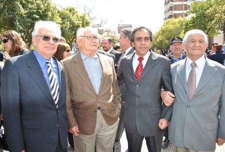 Dos intendentes, dos fundadores: Fernando Valle, Santiago Curlo, Sandro Guzmán y Canio Iacouzzi.