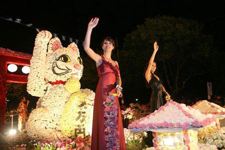 """La Asociación Japonesa logró el segundo premio con """"El gato de la fortuna""""."""