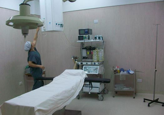 Las salas del quirófano fueron rediseñadas y equipadas.