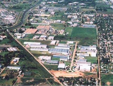 El parque industrial Oks, donde tiene sede la UIDE.