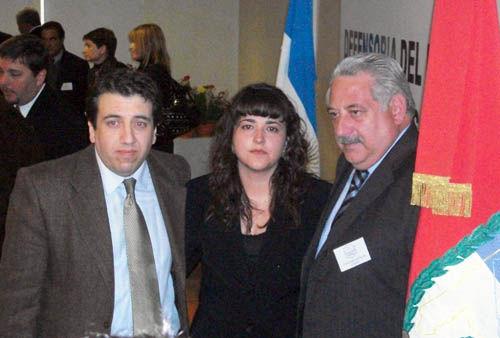 Fernández, junto al ex Jefe de Gabinete, Walter Blanco, en el plenario de ADPRA.