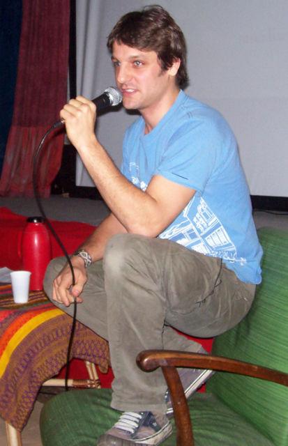 """El actor calificó de """"maravillosa"""" la iniciativa de la ONG Colectivo Cultural. Se lo vio a gusto y habló largo y tendido."""