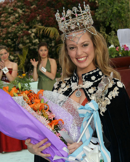 Gianina Florenzano, Reina de la Flor en 2009.