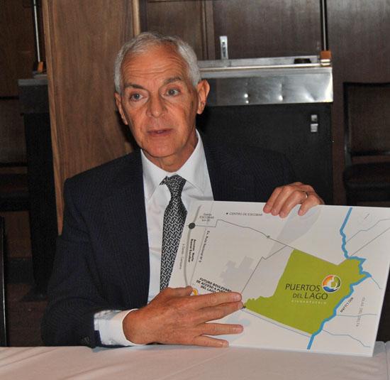 Constantini graficó con placas la transformación que generará Puertos del Lago en Escobar.