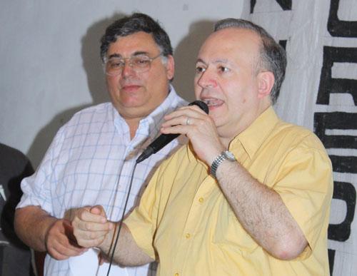 El presidente de la Cosmopolita, Guillermo Ferrari, fue uno de los oradores.
