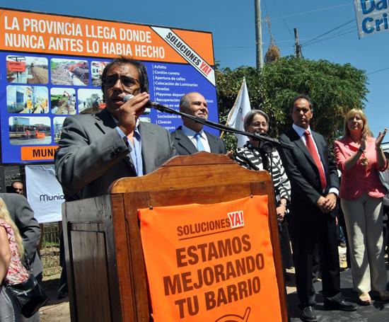 El intendente Guzmán agradeció el trabajo de la Provincia por la inclusión social.