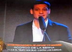 De la Serna ganó su tercer Martín Fierro (imagen: captura de TV)