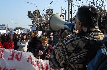 Los manifestantes se concentraron en la entrada de Escobar y comenzaron la marcha por 25 de Mayo.