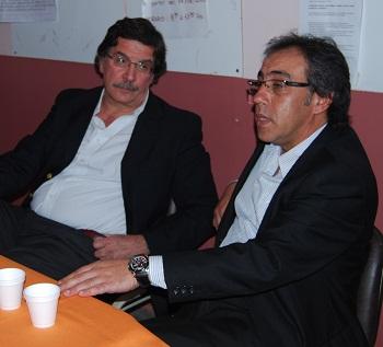 Guzmán, en la conferencia de prensa junto a Sileoni.