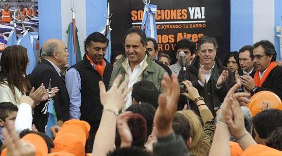 Scioli concretó su 17º visita oficial al distrito en los casi cuatro años que lleva de gobernador.