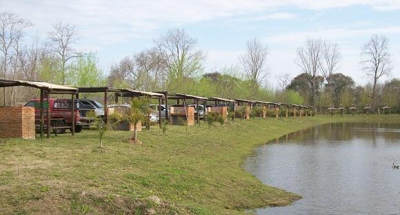 El lago del auto-camping, que estará listo para el próximo verano. Una gran iniciativa del club.