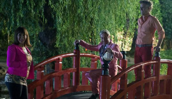 Moria cas n y elenco filmaron escenas de primavera en el for Jardin japones de escobar