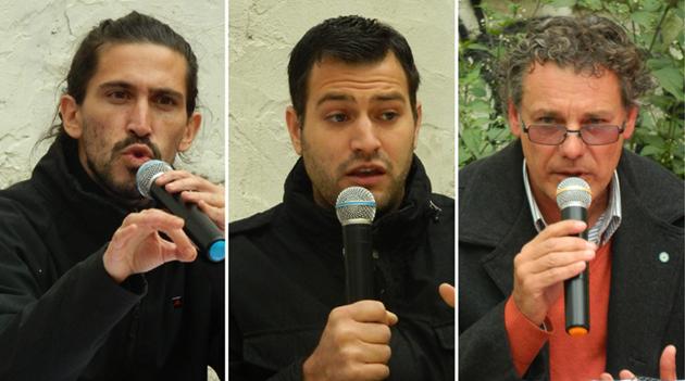 Dieron la cara. Manghi, Costa y Ros, en pleno debate. Sujarchuk y Carranza prefirieron no concurrir.