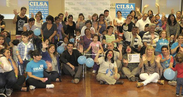 Felicidad. Con la presencia del modelo Hernán Drago, 46 niños y adultos con discapacidad recibieron en Temaikèn elementos ortopédicos y sillas de ruedas. (Foto: Prensa CILSA).