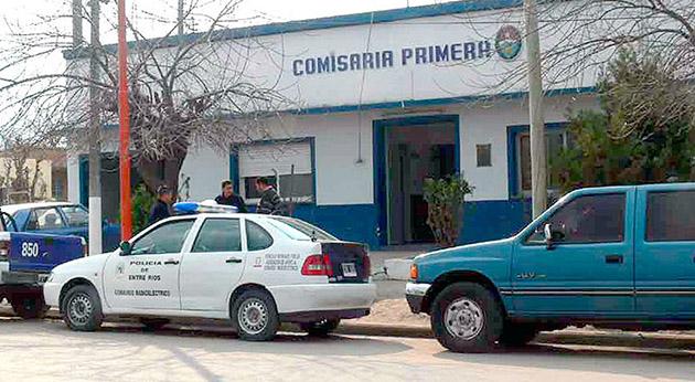 El lugar del hecho. El escobarense, prófugo hasta el viernes, se quitó la vida en una celda de la Comisaría de Concepción del Uruguay.
