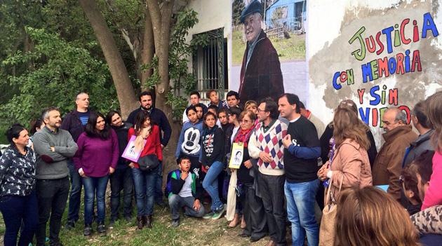 Homenaje. Sobre el cierre del encuentro se descubrió un mural sobre Jorge Julio López.